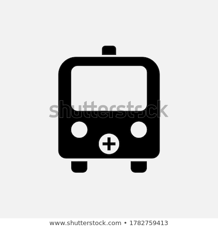 Ambulance violet vector icon ontwerp digitale Stockfoto © rizwanali3d
