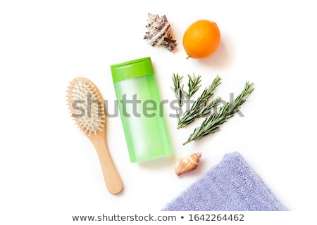 plastic · kam · kam · groene · geïsoleerd · witte - stockfoto © tetkoren