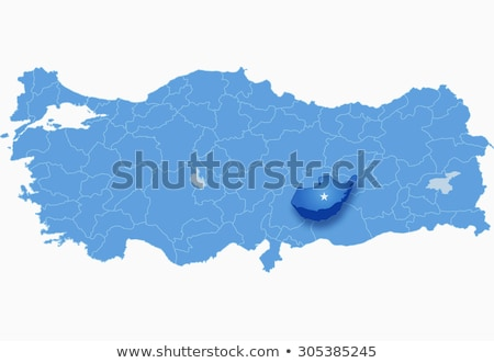 Map of Turkey where Adiyaman province is pulled out Stock photo © Istanbul2009