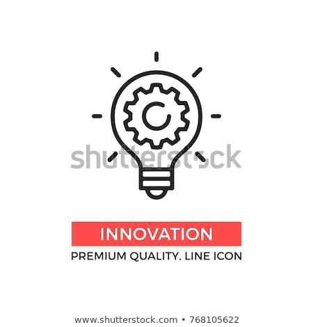 Villanykörte sebességváltó üzlet háttér agy lámpa Stock fotó © logoff