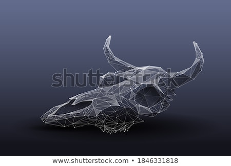 buffalo 3d low polygon isolate on white background Stock photo © teerawit