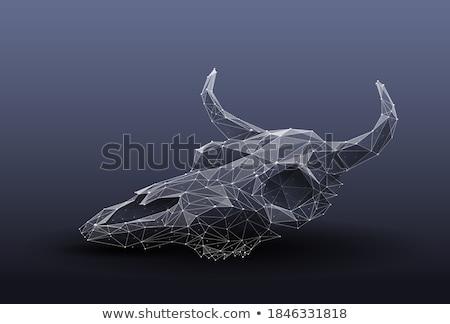 3D bajo polígono blanco diseno Foto stock © teerawit