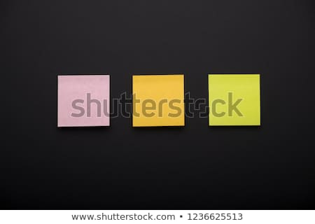 Stock photo: Three empty  post it