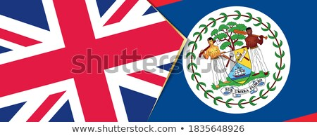 Egyesült Királyság Belize zászlók puzzle izolált fehér Stock fotó © Istanbul2009