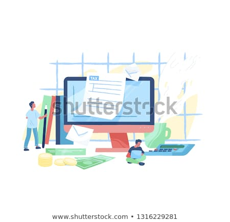 filling tax return on desktop Stock photo © mizar_21984
