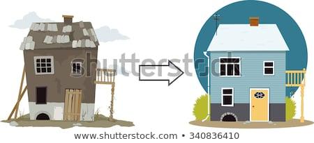rundown cottage Stock photo © prill