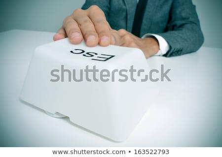 Quit key Stock photo © fuzzbones0