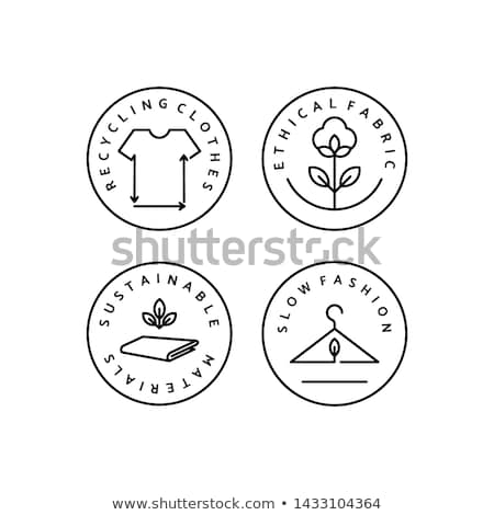 Moda símbolo vestuário indústria projeto texto Foto stock © Lightsource