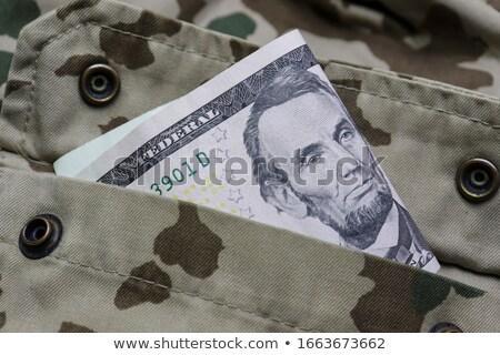 軍 ユニフォーム ポケット ドル 孤立した 白 ストックフォト © GeniusKp