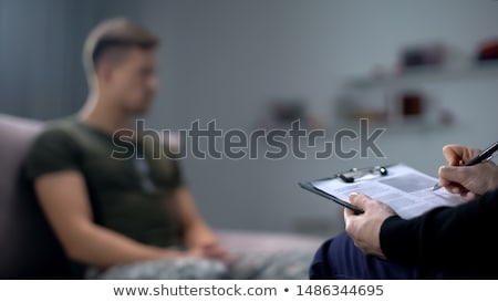 man by the psychologist stock photo © ambro