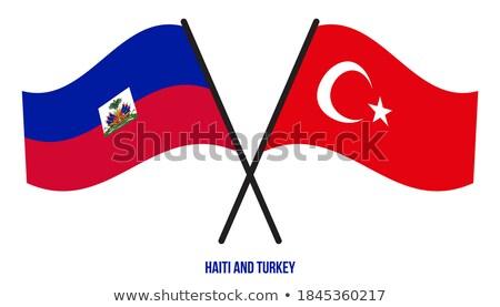 Turchia Haiti bandiere puzzle isolato bianco Foto d'archivio © Istanbul2009