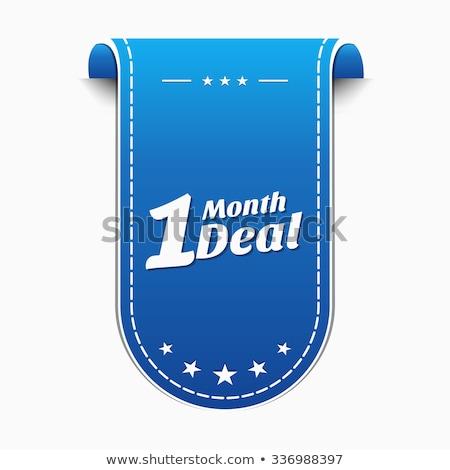 1 maand deal Blauw vector icon ontwerp Stockfoto © rizwanali3d