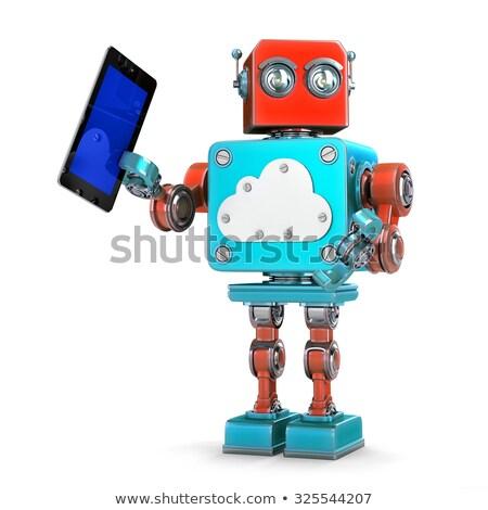 robô · computador · segurança · isolado - foto stock © kirill_m