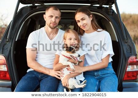 mother and children are held for the hands on the sunset stock photo © Paha_L