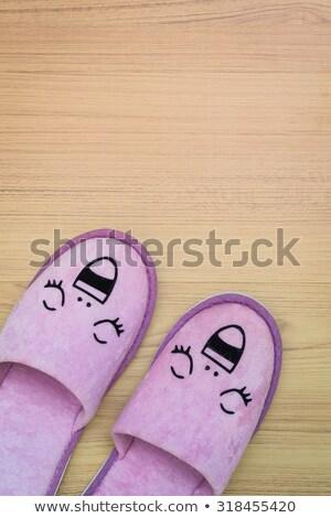 pieds · serviette · garçon · studio · cute - photo stock © frameangel