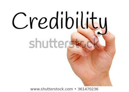 Credibility Black Marker Stock photo © ivelin