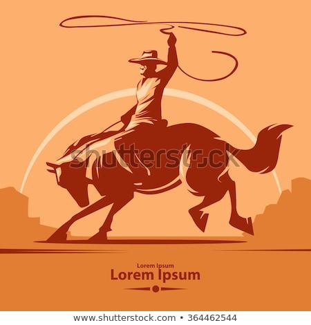 Americano edad occidental iconos icono cuerda Foto stock © artisticco