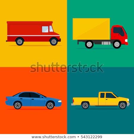 Pickup truck flat vector icon Stock photo © MaxPainter