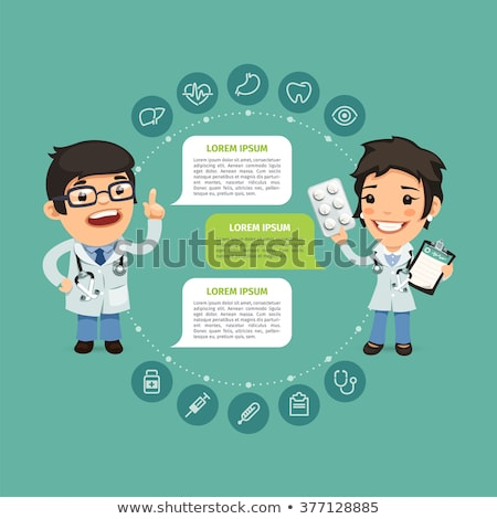 Speaking Doctor Infographic with Icons stock photo © Voysla