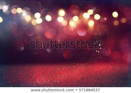 Kırmızı parıltı bokeh soyut makro atış Stok fotoğraf © FOTOYOU