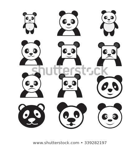Panda икона улыбка азиатских китайский Сток-фото © kiddaikiddee