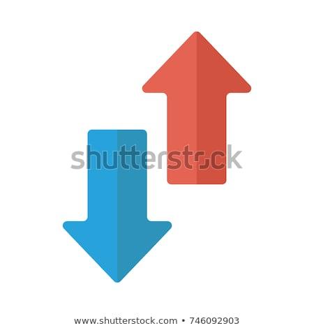 Nyíl felfelé lefelé ikon illusztráció szimbólum Stock fotó © kiddaikiddee