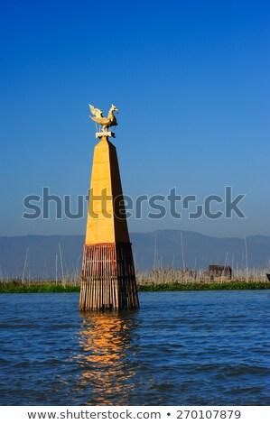 Golden bird on Inle lake in Myanmar Stock photo © Mikko