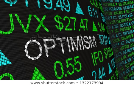positive financial outlook stock photo © lightsource