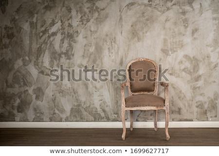 Antique élégance président rideau bois design Photo stock © olykaynen