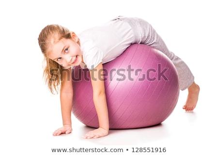 Sportive girl on fitball Stock photo © bezikus