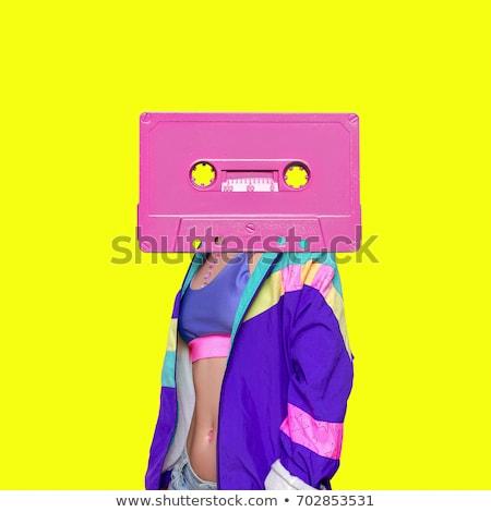 Retro müzik poster bağbozumu radyo dizayn Stok fotoğraf © bluering