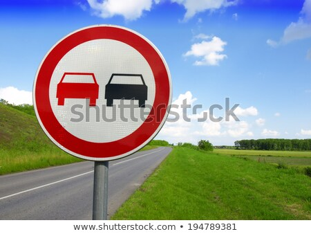 Set of variants a No passing - road sign Stock photo © boroda