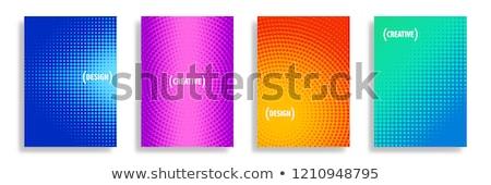 Azul abstrato pontilhado fundo padrão Foto stock © fenton