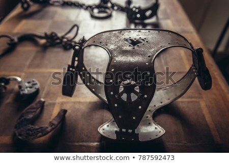 Medievale cintura metal mitico lock acciaio Foto d'archivio © Bigalbaloo