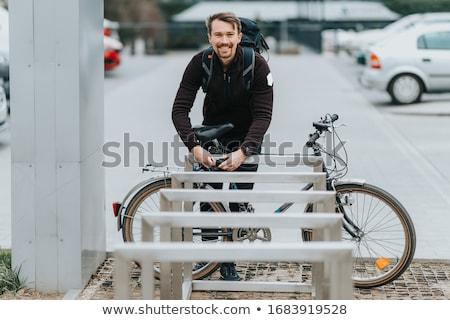 велосипедов блокировка цепь изолированный белый ключевые Сток-фото © FOKA