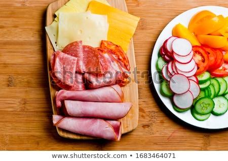 Brood kaas salami sandwich voedsel Stockfoto © Digifoodstock