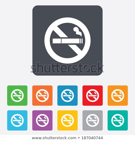 Round buttons with a stop smoking template Stock photo © bluering