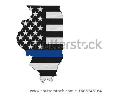 Illinois · harita · 3d · illustration · 3D · render · soyut - stok fotoğraf © iqoncept
