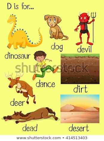 異なる 単語 開始 文字d 実例 犬 ストックフォト © bluering