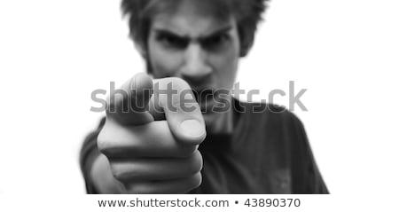 homme · asthme · attaquer · souffle · jeune · homme · visage - photo stock © deandrobot