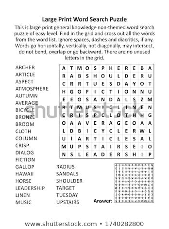 Quebra-cabeça palavra relaxar peças do puzzle construção brinquedo Foto stock © fuzzbones0