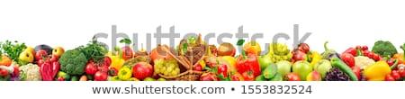 naadloos · vector · patroon · appels · Rood · groene - stockfoto © bluering