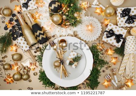 Christmas table decoration  stock photo © drobacphoto