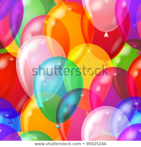 bright colorful balloons on white seamless pattern stock photo © evgeny89