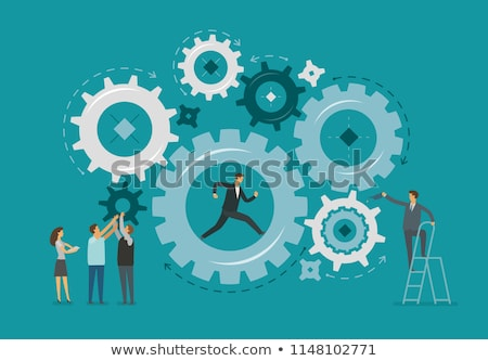 Group of cog wheels vector illustration. Stock photo © RAStudio