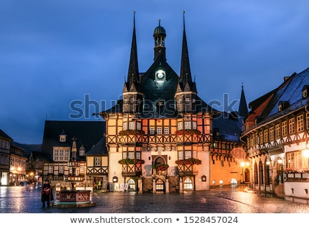 town hall building wernigerode by night stock photo © compuinfoto