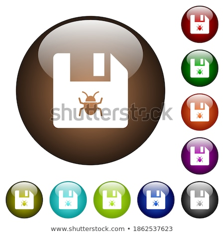 Colourful rounded buttons with insects Stock photo © bluering
