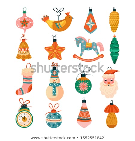 Set of various paper christmas trees Stock photo © orson