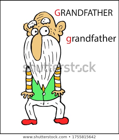 Flashcard letter G is for grandfather Stock photo © bluering
