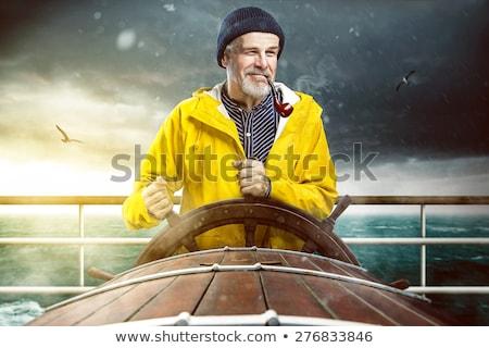 Vitorlás hajó tenger illusztráció háttér művészet csónak Stock fotó © bluering